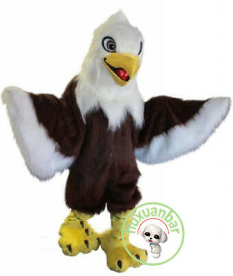 £215.16 • Buy Halloween Long Fur Eagle Mascot Costume Suits Adults Cosplay Party Dress Xmas