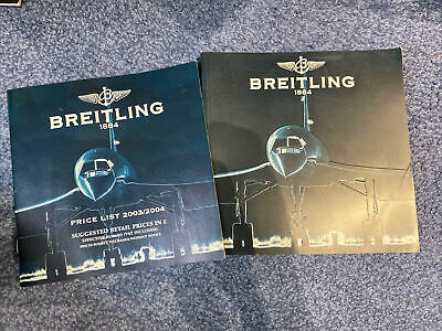 £20 • Buy Breitling 2004 Catalogue Brochure With 2003/2004 Price List