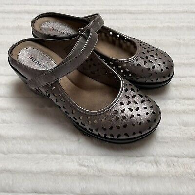 £12.06 • Buy Rialto Womens Vienna Pewter Mules Size 8 Wedge Slip On Shoes