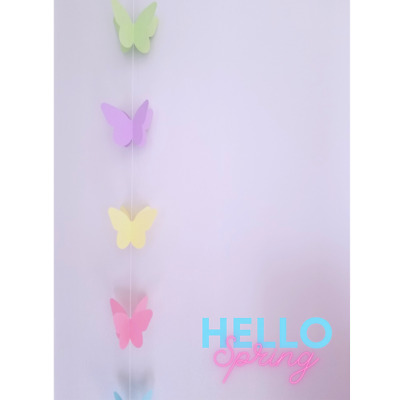 £2.99 • Buy 3D Macaron Butterfly Decoration Hanging Bunting Kids Adults Birthday Wedding