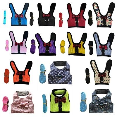 £3.41 • Buy Mesh Lead Vest Printed Harness With Leash For Animal Pet Rabbit Bunny Accessory