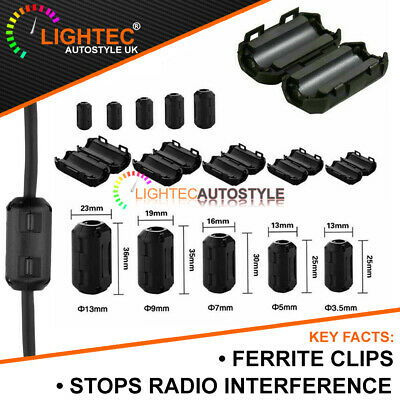 £3.19 • Buy Black Clip On Ferrite Core Anti Radio Interference Noise Rfi Emi Filters Clamps