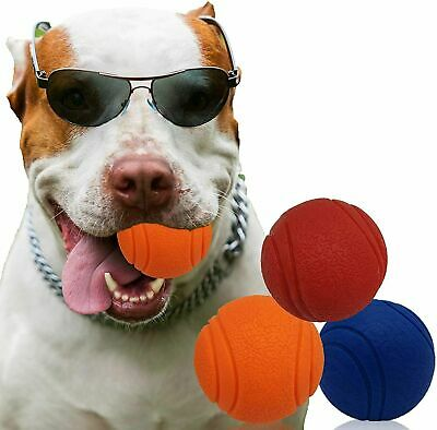 £5.99 • Buy  HIGH BOUNCING Indestructible Tough Solid Core Rubber Dog Ball Interactive Toys