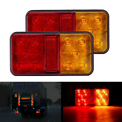 AU17.59 • Buy 2x Submersible Waterproof 10 LED Stop Tail Lights For Boat Truck Trailer Marine