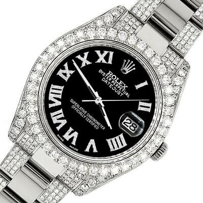 $ CDN19349.75 • Buy Rolex Datejust II 41mm Diamond Bezel/Lugs/Bracelet/Black Roman Dial Steel Watch