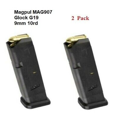 $32.95 • Buy Magpul 2 PACK - MAG907 PMAG GL9 -10 Round Magazine For The GLOCK G19 9mm - NEW