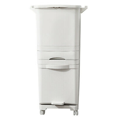 £40.95 • Buy 42L Large Trash Can Double Deck Waste Sorting Bins Home Kitchen 3 Layers Dustbin
