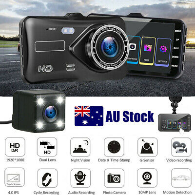 AU52.99 • Buy Car Dash Camera Touch Night Vision Video DVR Recorder Front And Rear Dual Cam