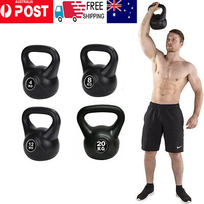 AU35.98 • Buy 4-20KG Kettlebell Kettle Bell Weight Exercise Home Gym Fitness Workout Dumbbells
