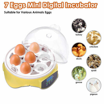 AU44.99 • Buy Digital Mini 7 Eggs Incubator Automatic Chicken Hatcher Chicken Duck Hen Poultry