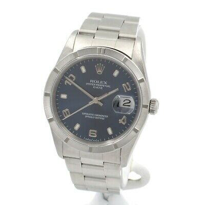 AU4056.93 • Buy Rolex Oyster Perpetual Datejust Stainless Steel Blue Dial Wrist Watch #w1149-1