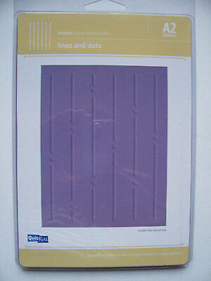 £2.25 • Buy Quickutz LINES AND DOTS A2-010 Background Shape Geometric 1 Embossing Folder A6