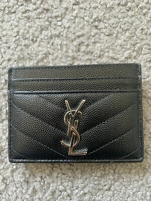 AU250 • Buy YSL Card Case In Embossed Leather