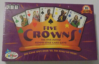 AU16.67 • Buy Set Enterprises Five Crowns 5 Suited Rummy Style Card Game 10 Best Game Awards