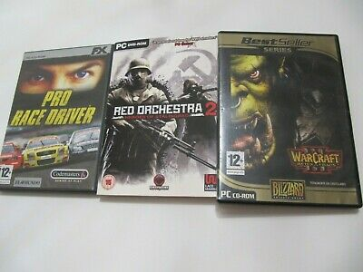 £11.93 • Buy Pc Warcraft Iii + Red Orchestra 2 + Pro Racer Driver Lote  Pack