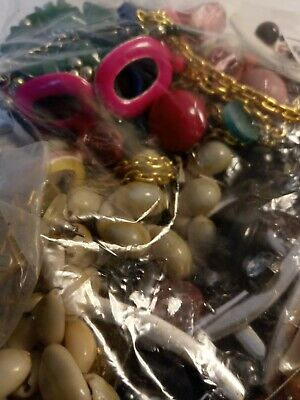 $ CDN18.55 • Buy Costume Jewelry Lot: UNSEARCHED, UNTESTED, Vintage To New Estate Bag/Box 322 Gms