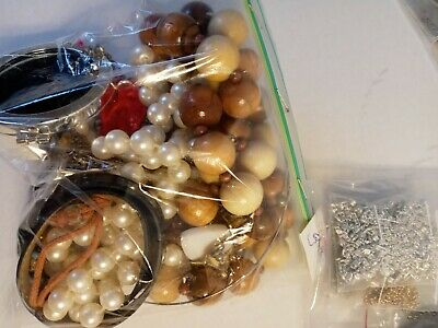 $ CDN18.55 • Buy Costume Jewelry Lot: UNSEARCHED, UNTESTED, Vintage To New Estate Bag/Box 288 Gms