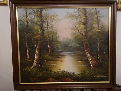 $ CDN254.06 • Buy Cantrell Original Oil Painting Signed By The Artist. Woodland Scene.