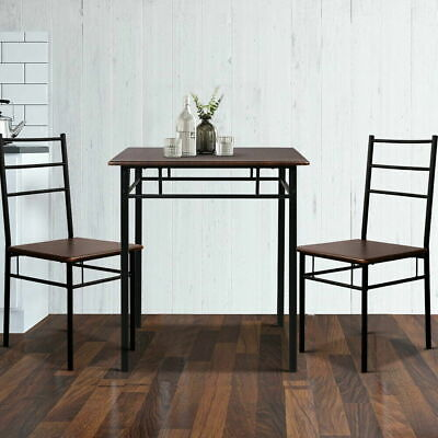 AU96.89 • Buy Artiss Dining Table And Chairs Set Kitchen Chair Restaurant Wooden Metal Black