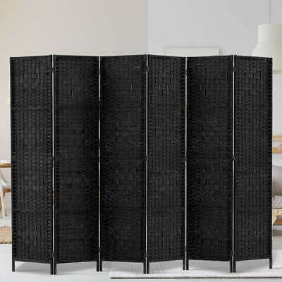 AU169.69 • Buy Artiss 6 Panel Room Divider Screen Privacy Rattan Timber Wall Stand Black