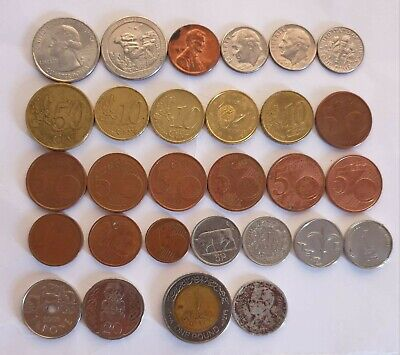 £15.99 • Buy Joblot / Bundle Of Old Foreign Coins (mixed Countries)