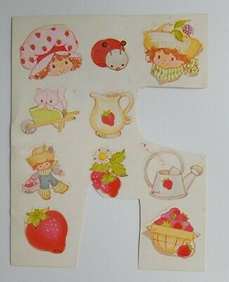 AU12.71 • Buy Vintage 80's Stickers Strawberry Shortcake Sheet