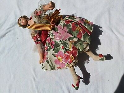 £14 • Buy Spanish 1950s Vintage Cloth Doll With Dress, Petticoat And Bloomers.