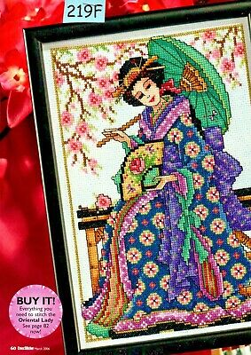 £1.25 • Buy Cross Stitch Chart Eastern Promise Oriental Lady & Peace Happiness Cards (219f)