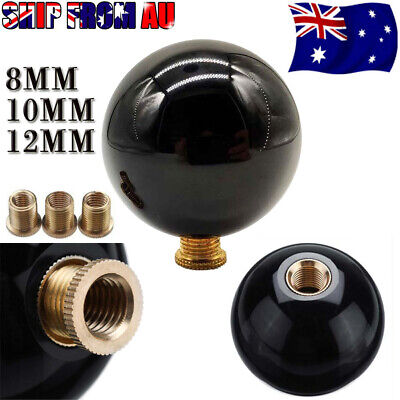 AU19.95 • Buy Universal Black Round Ball Gear Shift Knob Shifter Lever + M8/10/12 Adapter New