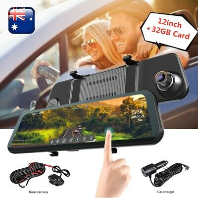 AU127.67 • Buy 12  Car Dash Camera Front And Rear View Kit Mirror Reverse DVR Recorder Dual Cam