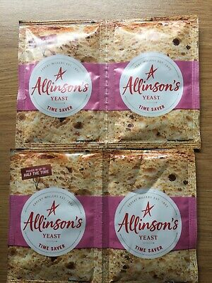 Allinson Yeast Time Saver Bread  baking Free Post X4 Sachet 11g Each • 3.60£