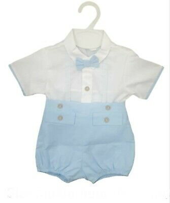 £10 • Buy *sale* Baby Boys Spanish Shirt & Shorts Set With   Bow Tie Baby Blue