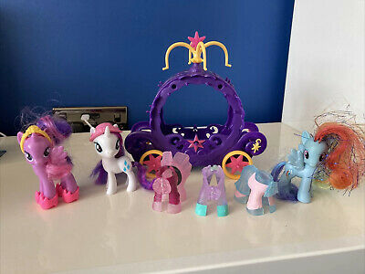 My Little Pony Figures Bundle Ponies G4 Clip On Outfits Carriage Rarity Twil • 8.95£