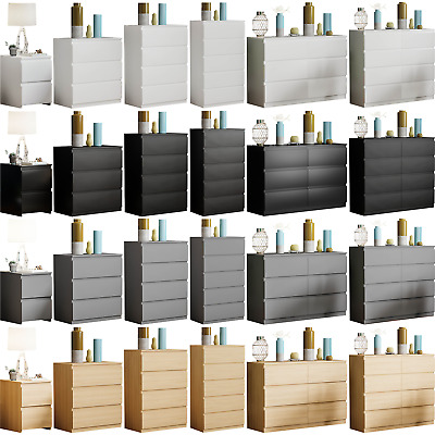 £109.90 • Buy Modern 2 3 4 5 6 8 Drawer Bedside Table Cabinet Chest Of Drawers Sideboard Wide