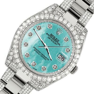 $ CDN19045.25 • Buy Rolex Datejust II 41mm Diamond Bezel/Lugs/Bracelet/Aquamarine MOP Dial Watch