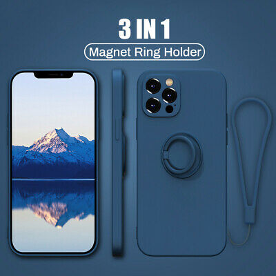 AU6.33 • Buy 3in1 Hand Ring Stand Slicone Case Cover For IPhone 12 11 Pro MAX XS XR 8 7 Plus