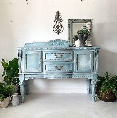 £845 • Buy Vintage Ornate Sideboard, French Style, Hand Painted