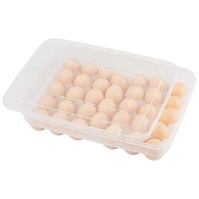 £6.99 • Buy 34 Egg Holder Boxes Tray Storage Box Eggs Refrigerator Container Plastic Case