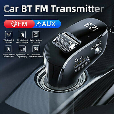 £8.84 • Buy FM Transmitter Kit Dual USB Charger Mp3 Player Handsfree In Car With Bluetooth
