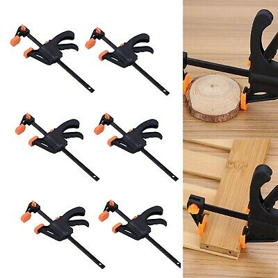 £11.99 • Buy 6x  4  Wood Working Clip Bar F Clamp Clamps Grip Ratchet Quick Release Squeeze