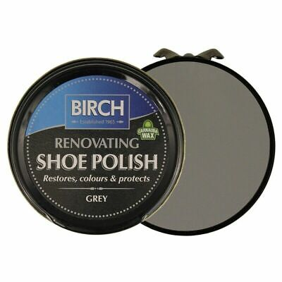 £2.95 • Buy Birch Grey Renovating Traditional Shoe Boot Care Polish Smooth Leather Wax
