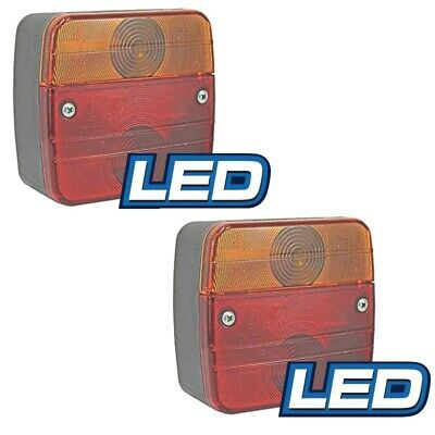 AU62 • Buy LED Trailer Lamp Combination StopTail Indicator Licence Plate 12V 115x105mm PAIR