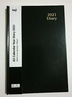 AU11.20 • Buy A5 - Week To An Opening - Calendar Year Diary 2021 - 60 Gsm - KE66238BK