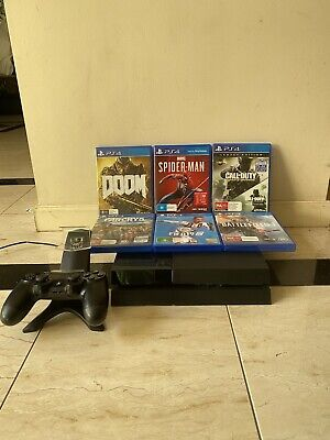 AU279.95 • Buy PS4 PLAYSTATION 500GB (USED)+ 1x Wireless Controllers + Dual Charger & 6 GAMES.