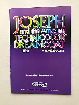 £3.95 • Buy JOSEPH AND THE AMAZING TECHNICOLOR DREAMCOAT The Musical Tour Theatre Programme