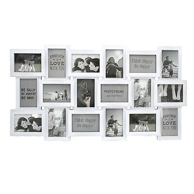 £18.99 • Buy 18 Photo Frame Large Family Multi Collage Aperture Wedding Picture Wall Hanging