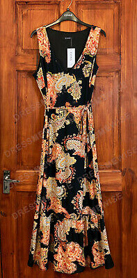 £21.99 • Buy Evans Paisley Floral Print Maxi Dress With Belt Curve Plus Sizes 14 To 28
