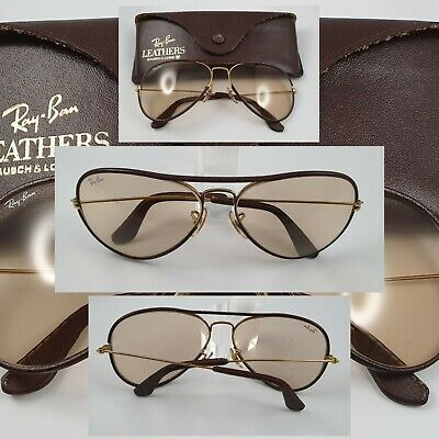 AU153.76 • Buy Bausch And Lomb Ray Ban USA Brown Leather Changeable 58□14 - Second Hand Item