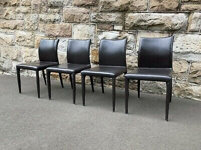 AU590 • Buy 4 X Leather Space Furniture Dining Chairs