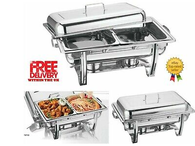 £39.99 • Buy Vinod DOUBLE COMPARTMENT CHAFING / BUFFET DISH /PARTY FOOD WARMER FAST DISPATCH